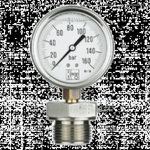 Bourdonrør manometer med membran MAN-RF/DRM-600 - Kobold