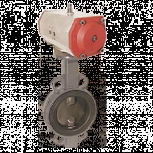 Lukke ventil med pneumatisk aktuator KLP - Kobold